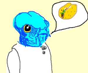Drawn tacos alien One) by Wars (drawing fish