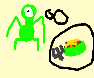 Drawn tacos alien Green  alien tacos child