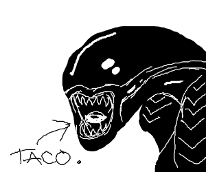 Drawn tacos alien Taco (from inner Muffin with