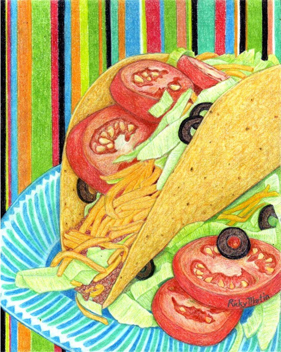 Drawn tacos messy Snack Dining Snack Food Food