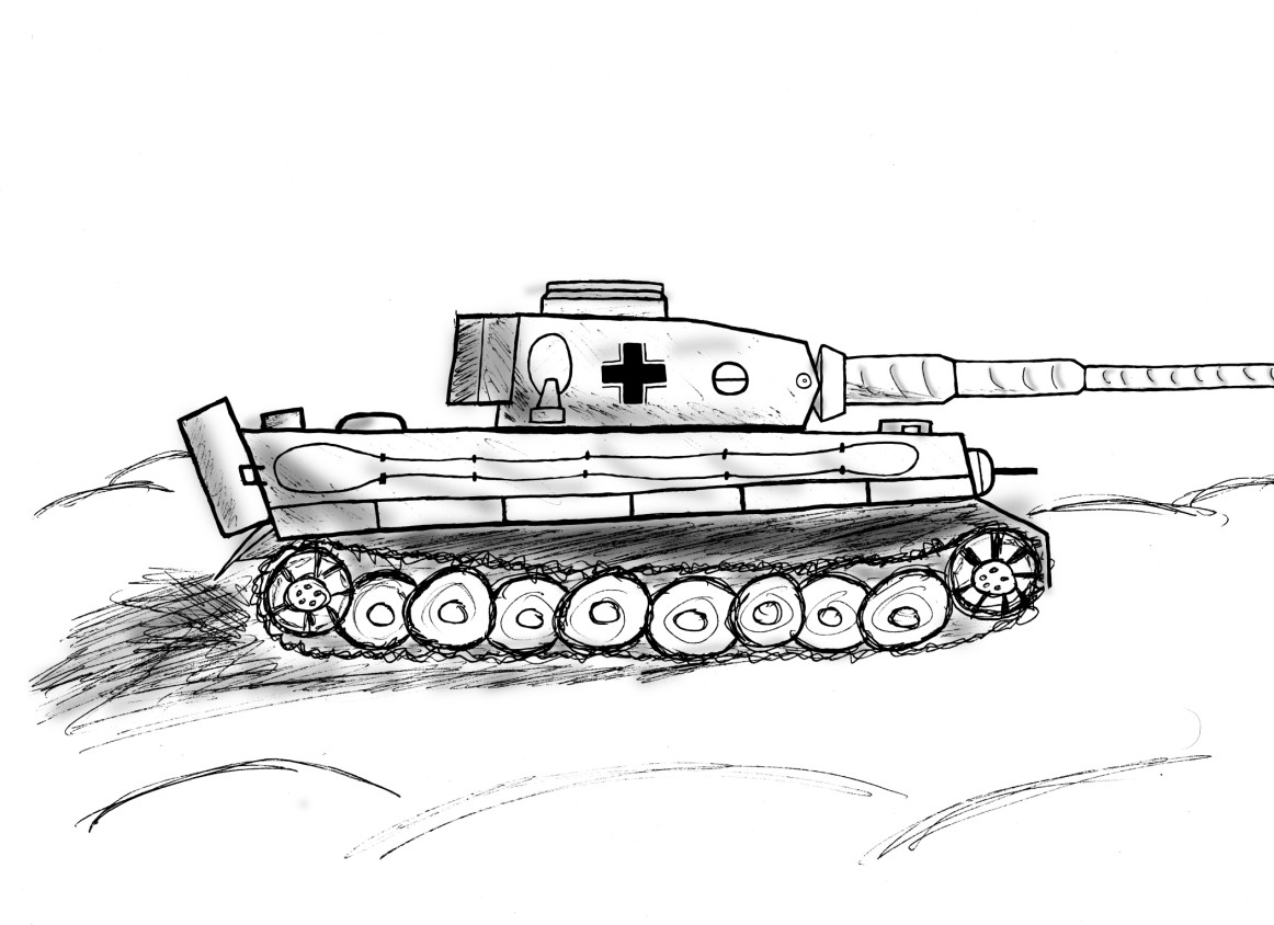 Drawn tank Realistic Tank Sketch Images Drawing