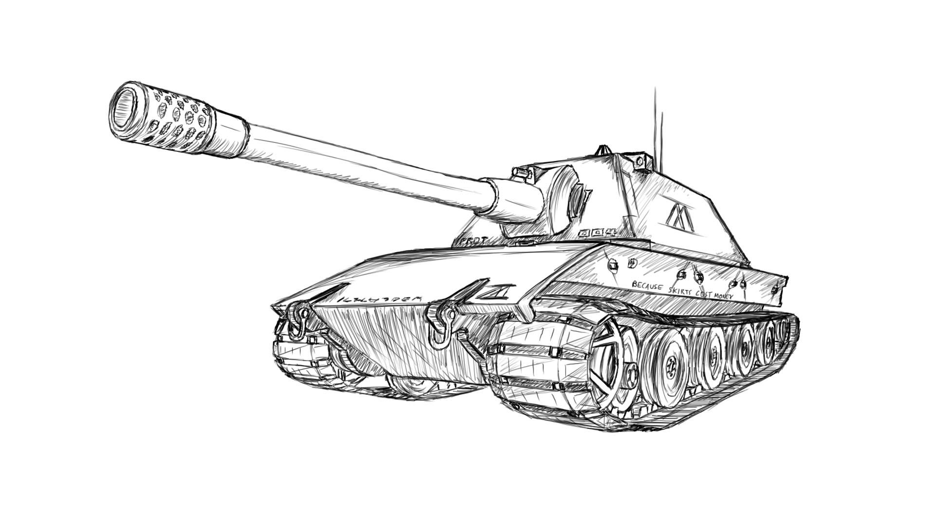 Drawn tank It bit good side I