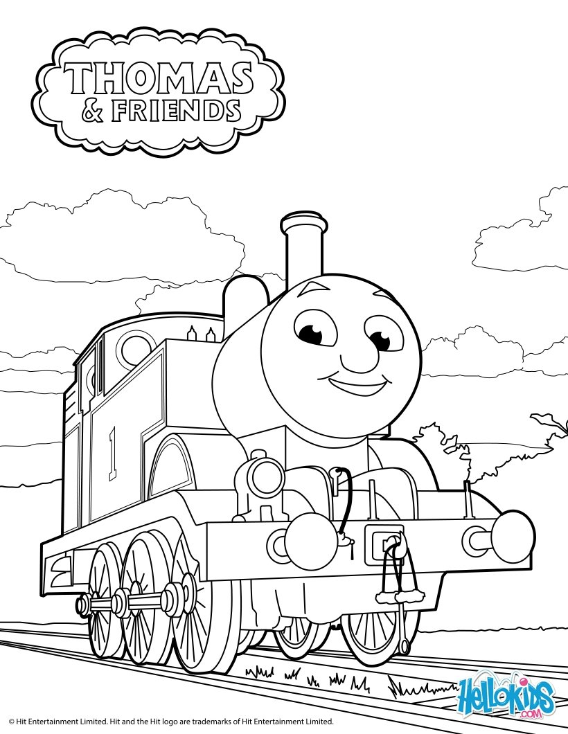 Drawn railroad thomas the tank engine Page com coloring the engine