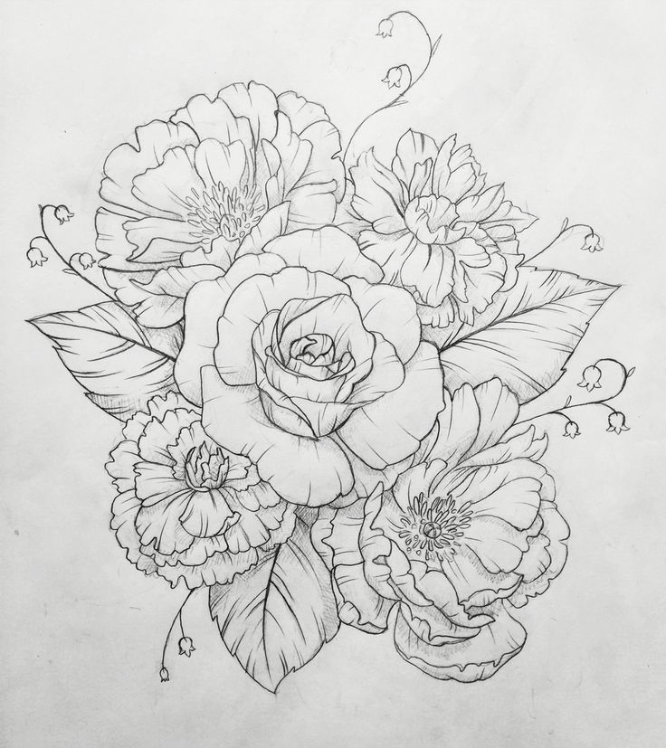 Drawn tattoo Tattoo on custom Contact Peony