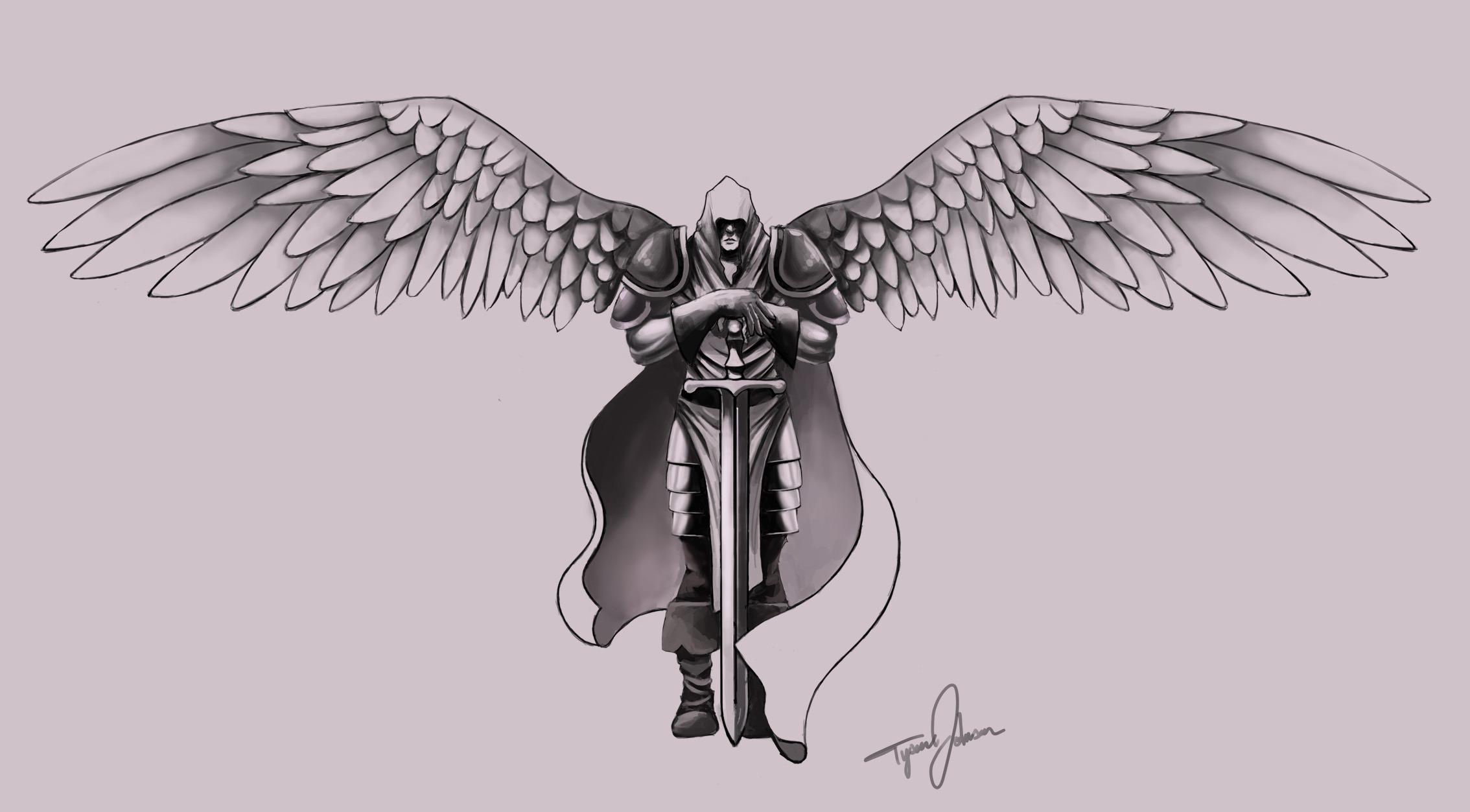 Drawn tattoo greek warrior #4