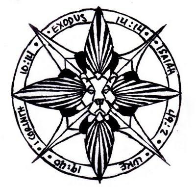 Drawn tattoo moral compass #8