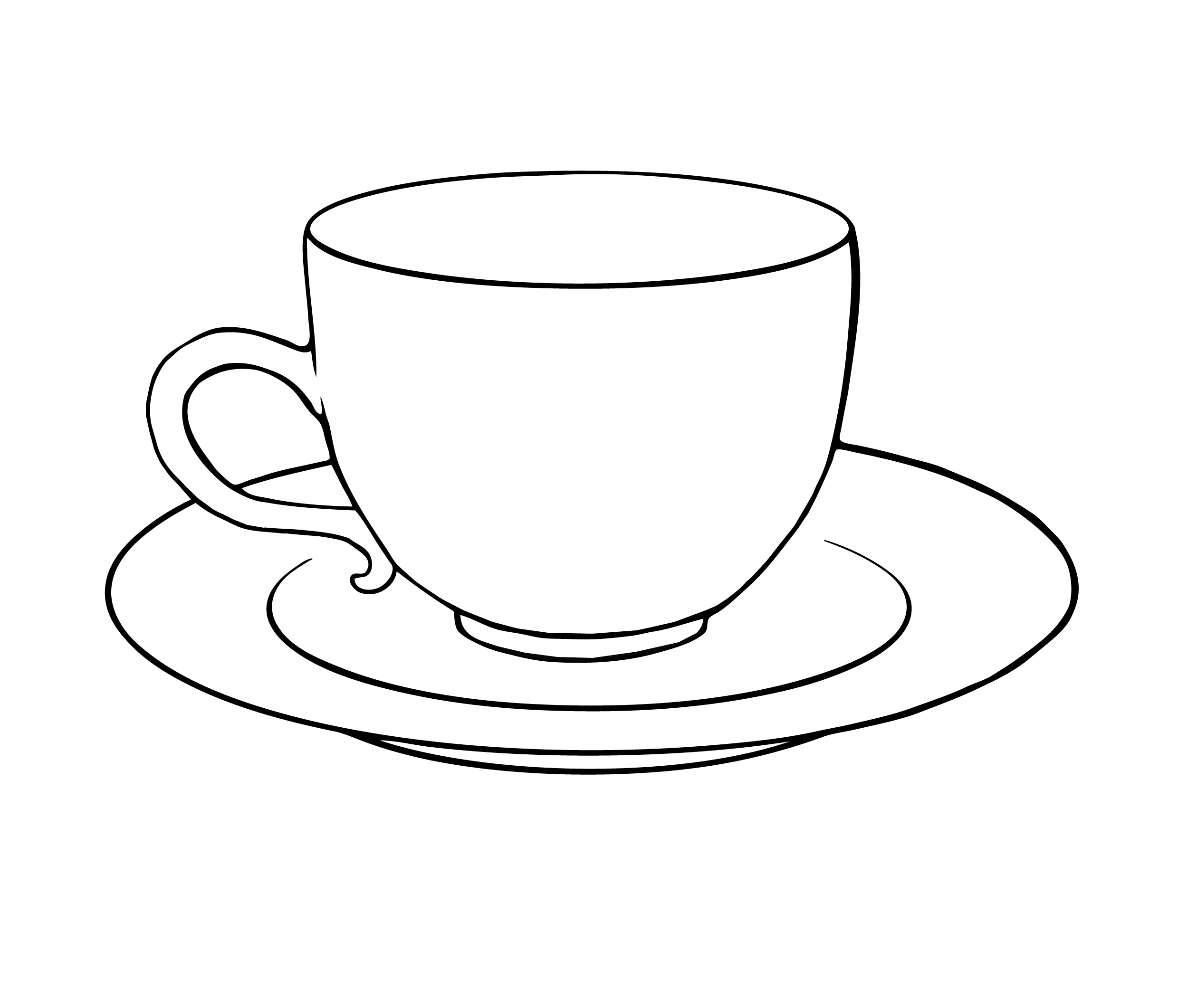 Drawn teapot outline Drawing And Page Cup Coloring