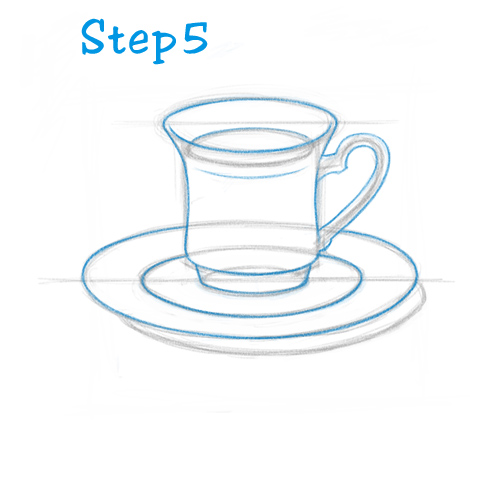 Drawn teacup tea set How HowToDraw Cup – to