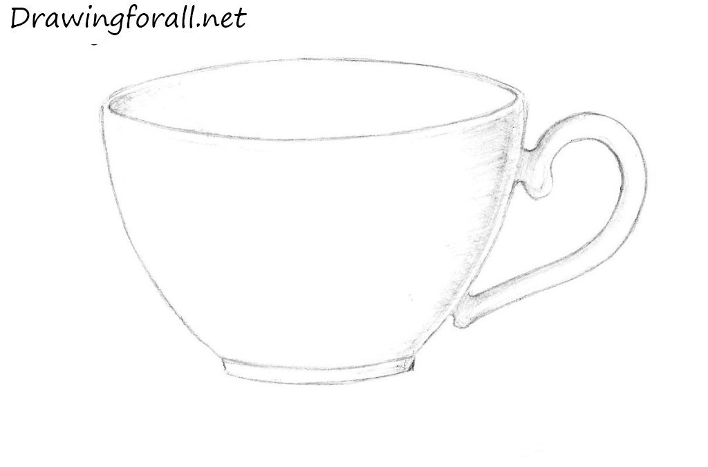Drawn tea cup Step net How to cup