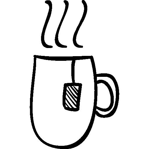 Drawn teacup tea mug #5