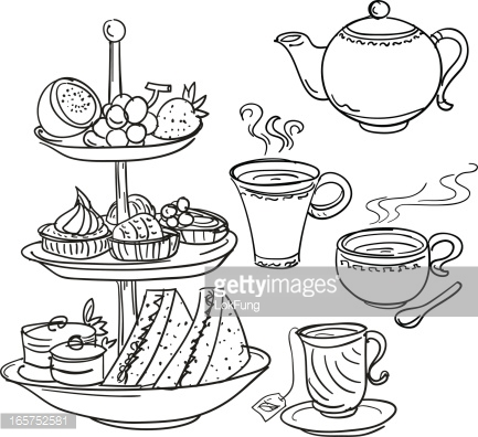 Pastry clipart cream tea Afternoon Google Search tea Search