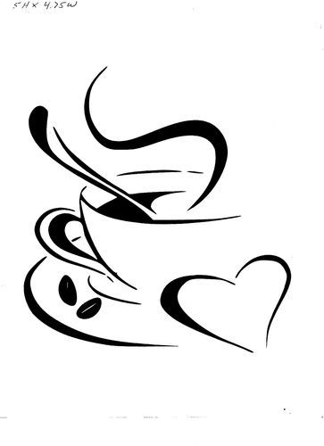 Coffee clipart drawn cup Pinterest Coffee on decal heart