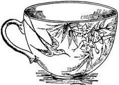 Drawn tea cup Shop sparrow tea Drawing Colouring