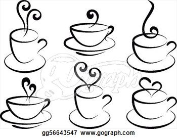 Coffee clipart drawn cup Cups Stock  tea Illustration