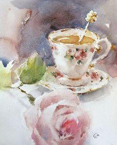 Drawn teacup afternoon tea #8