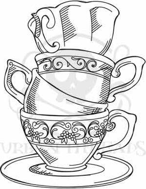 Drawn teacup afternoon tea #15