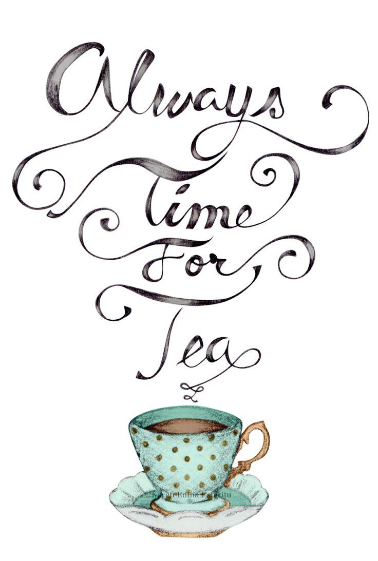 Drawn teacup afternoon tea #2