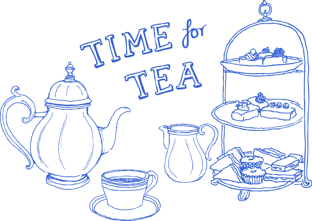 Drawn teacup afternoon tea #13