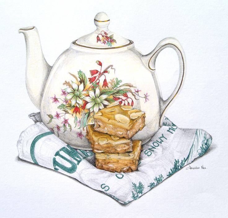 Drawn teacup afternoon tea #10