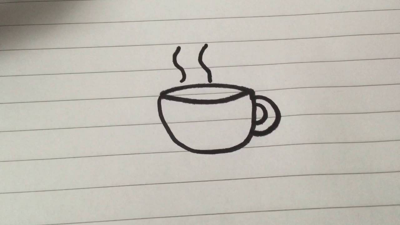 Drawn teacup coffee cup #12