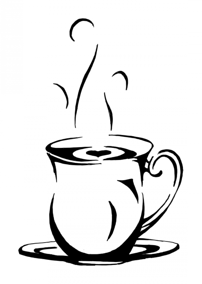 Drawn teacup coffee cup #4