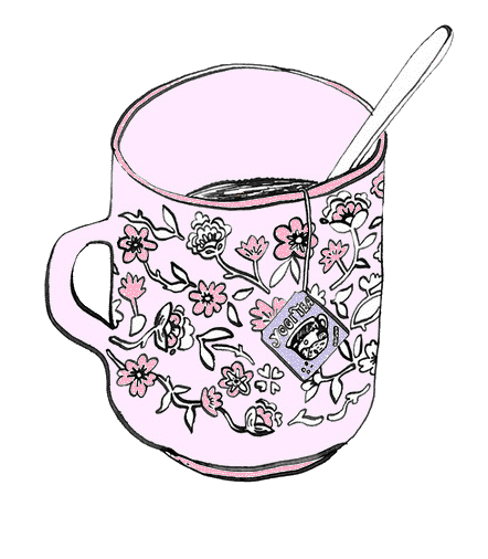 Drawn teacup coffee cup #1