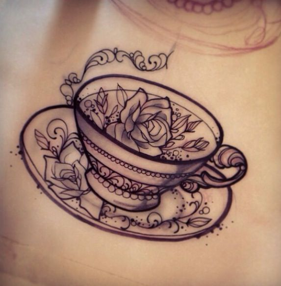 Drawn teacup coffee cup #10