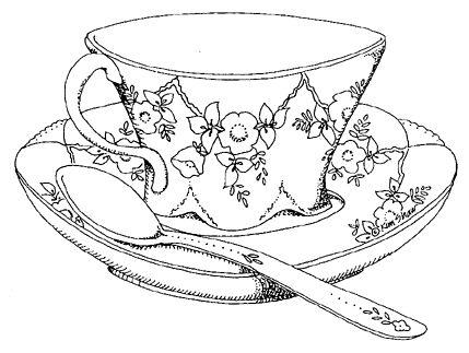 Drawn teacup crockery #2