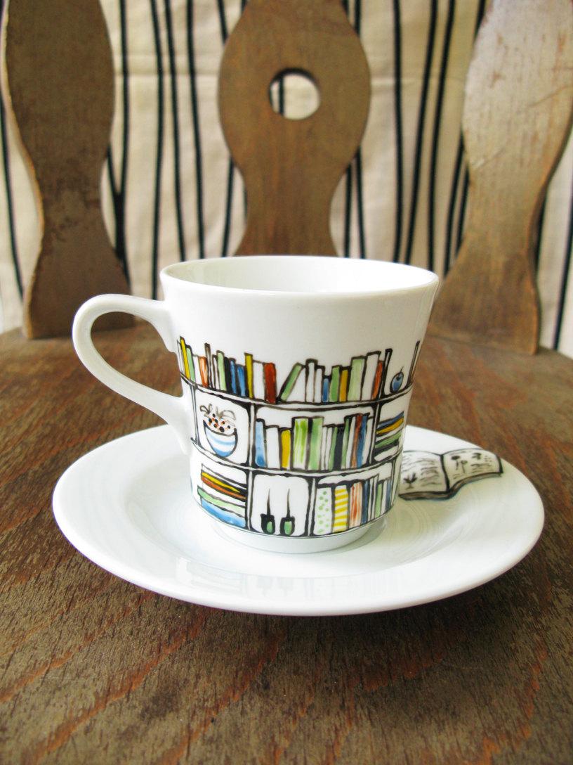 Drawn teacup crockery #4