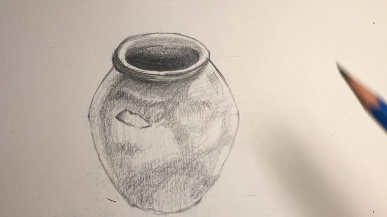 Drawn teacup cross hatching #14