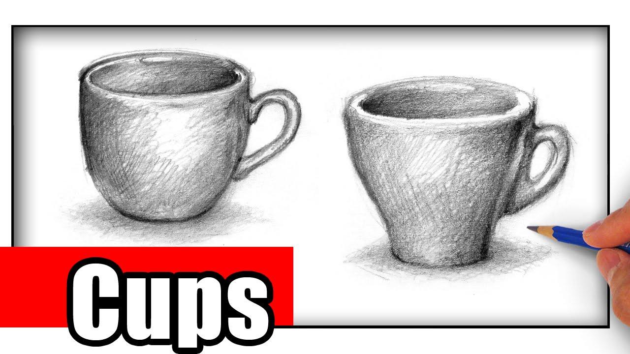 Drawn teacup cross hatching #12