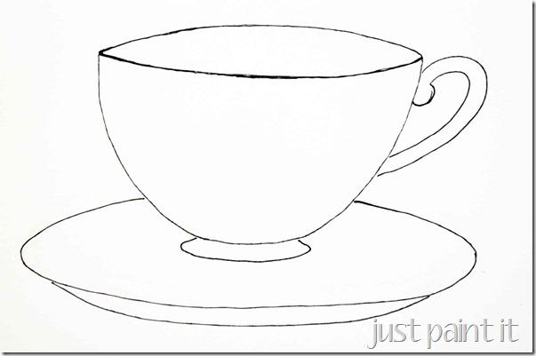 Drawn teacup cup saucer Sketching A It Teacup Blog