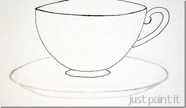 Drawn teacup cup saucer Sketching A It saucer Blog