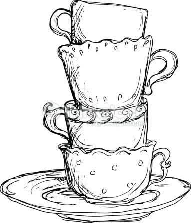 Drawn teacup cup saucer About Cups And 101 Set