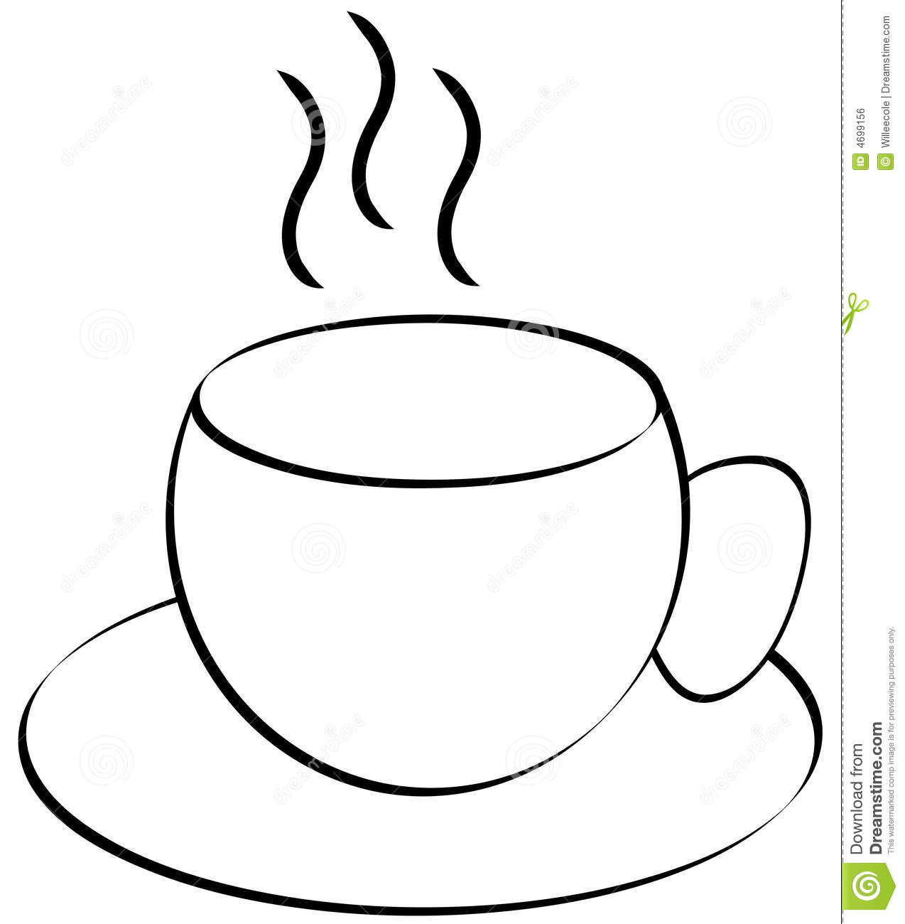 Coffee clipart teacup Free And Clipart White Black