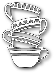 Drawn teacup stacked #7