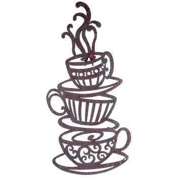 Drawn teacup stacked #10