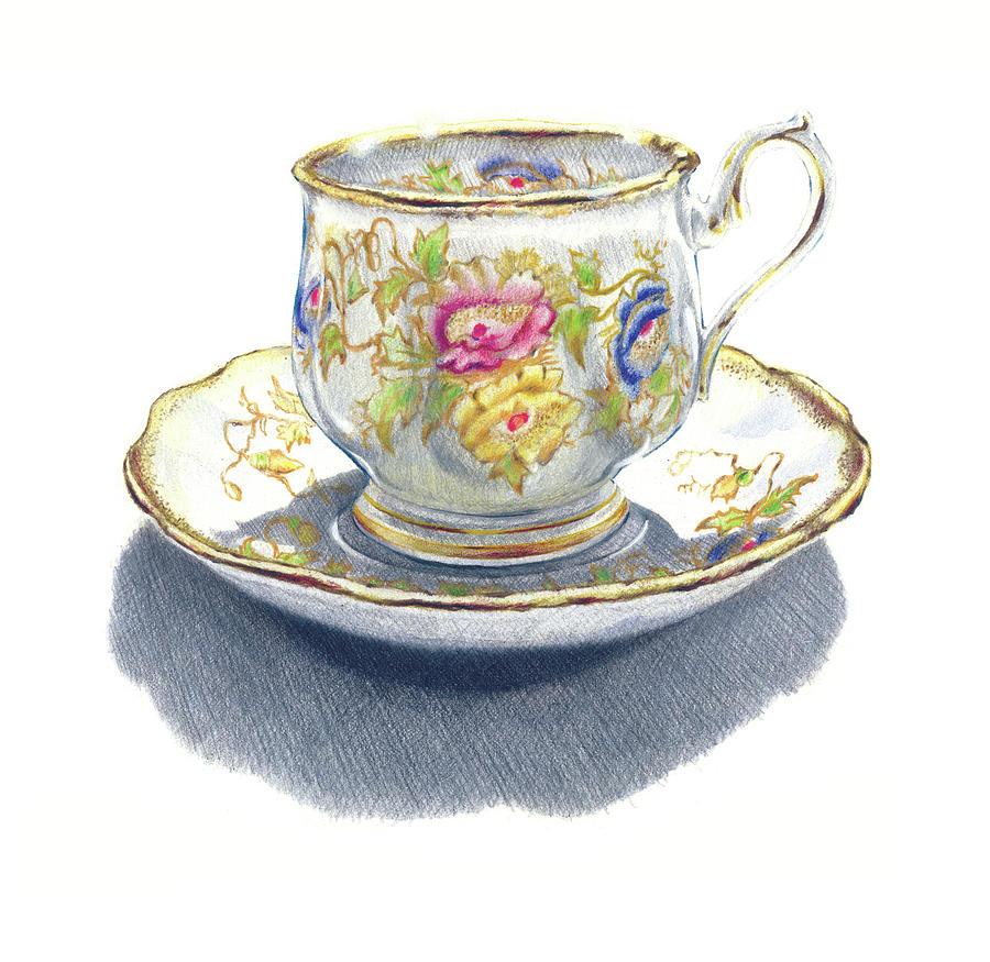Drawn teacup tea mug #2