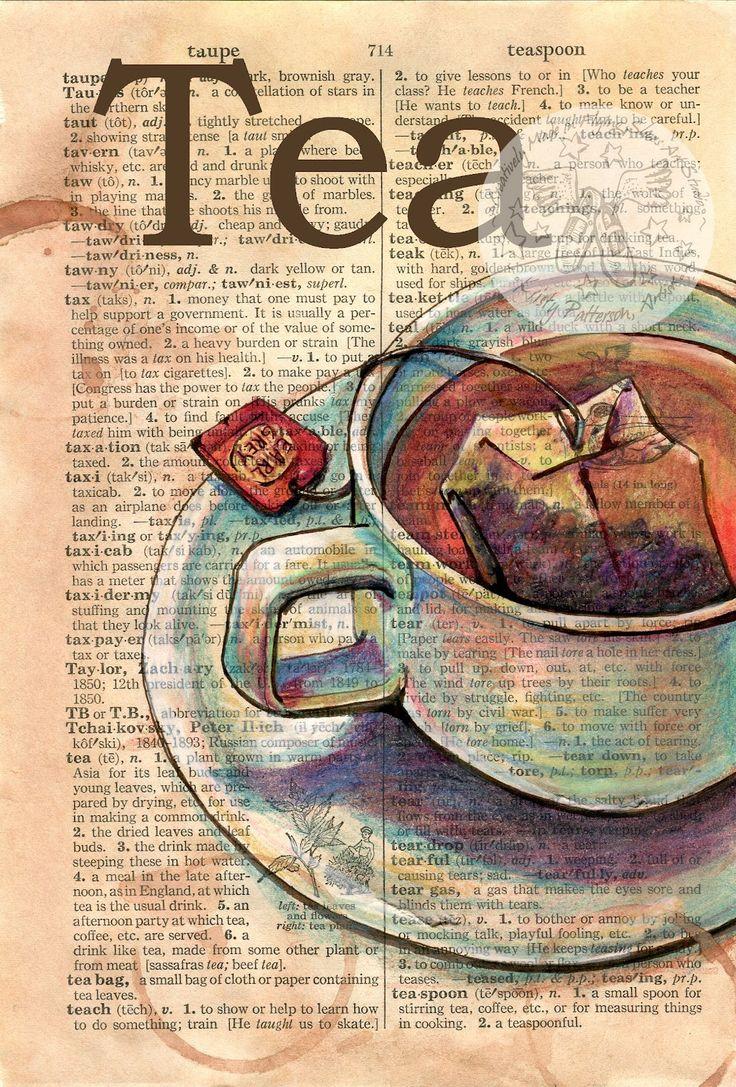 Drawn teacup tea mug #11
