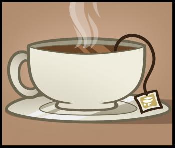 Drawn teacup tea mug #10