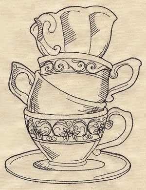 Drawn teacup tea set Towels Grey ideas Best 25+