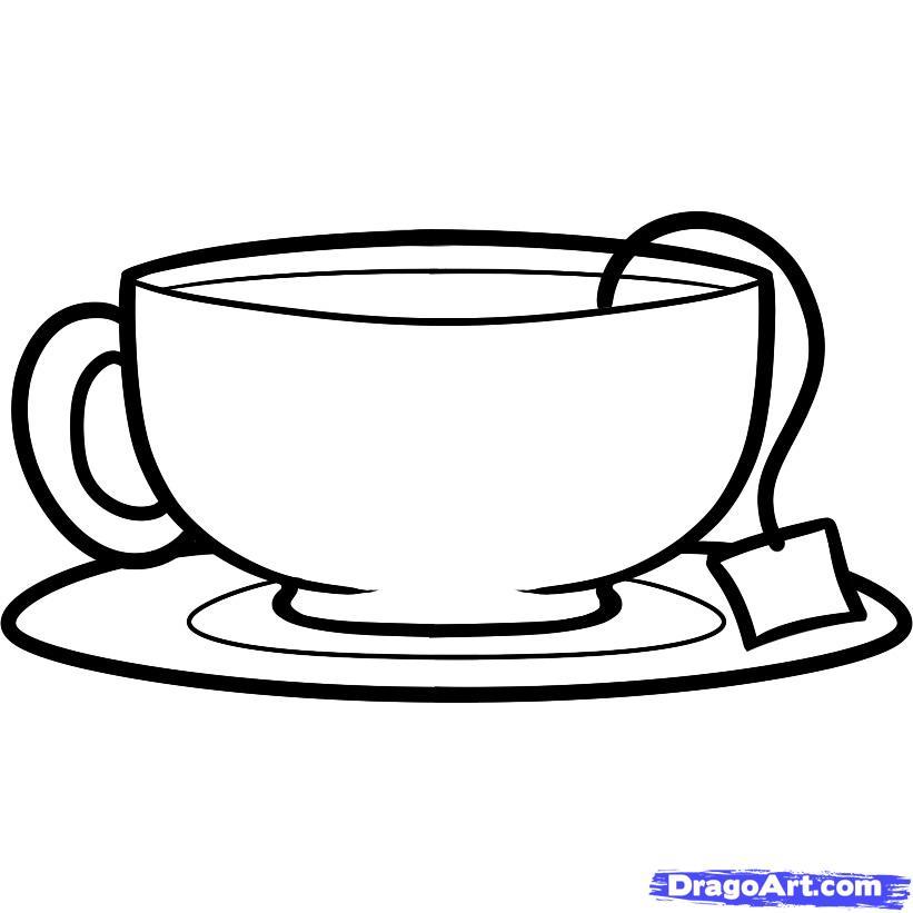 Drawn teacup tea set Tea FREE Pop Culture step