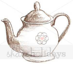 Drawn teapot Invitation Template Teapot Clipart Sketched