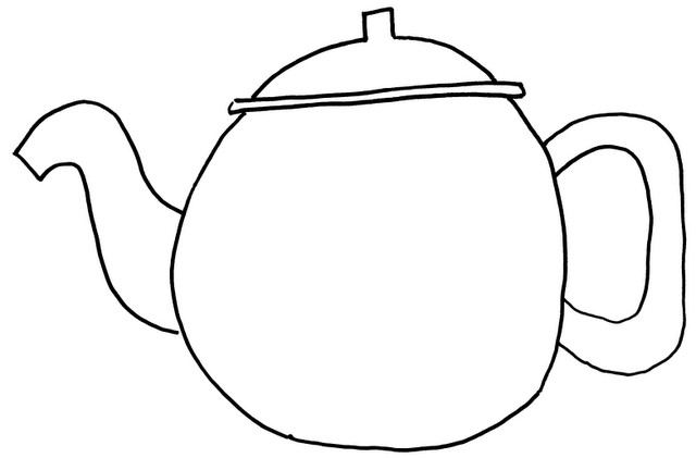 Drawn teapot Do drawing over big the