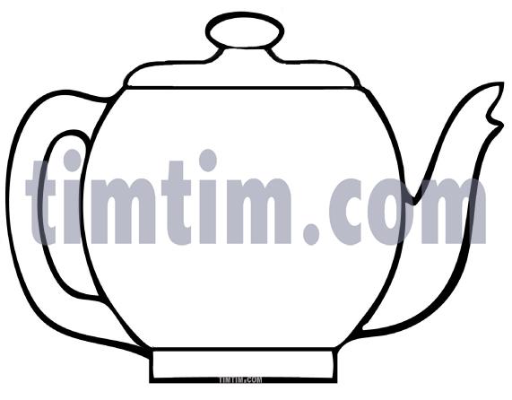 Drawn teapot Cooking Blank Food BW drawing
