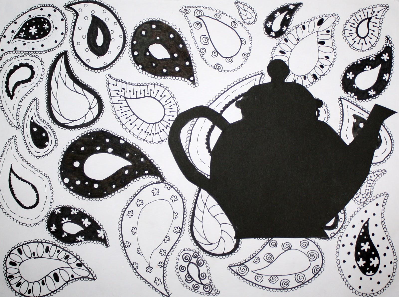 Drawn teacup teapot #10