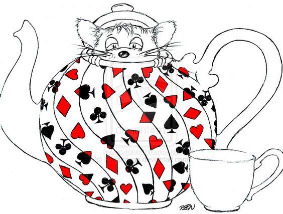 Drawn teacup Cartoon 18OZ 2 wonderland Amazoncouk