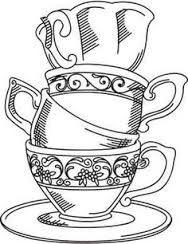 Drawn teacup Free line teapot  Images