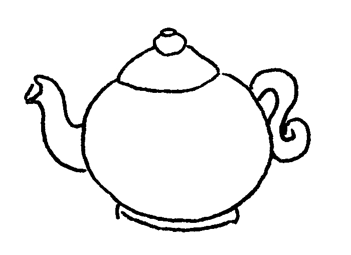 Templates  clipart teapot Coloring Pages Teapot Coloring Adults