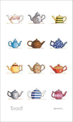 Drawn teapot cute Para Decoupage Teapot Laminas Teapots